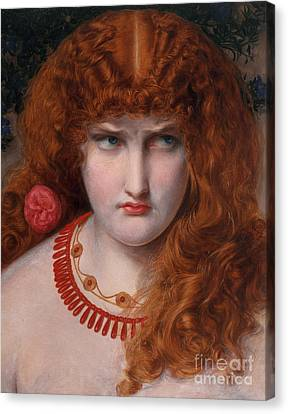 Helen Of Troy Canvas Print by Anthony Frederick Augustus Sandys