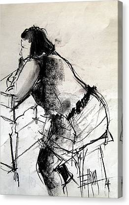 Helene #2 - Figure Series Canvas Print by Mona Edulesco