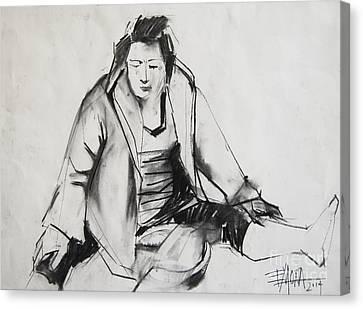 Helene #6 - Figure Series Canvas Print by Mona Edulesco
