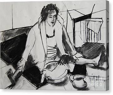Helene #7 - Figure Series Canvas Print by Mona Edulesco