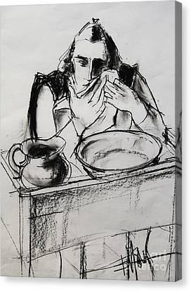Helene #8 - Figure Series Canvas Print by Mona Edulesco