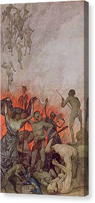 Hell Canvas Print by Hans Thoma