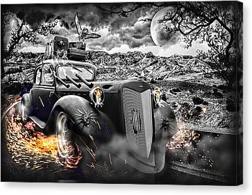 Hell Of A Ride Canvas Print by Wendy White