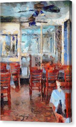 Hellas Restaurant And Bakery  Canvas Print by L Wright