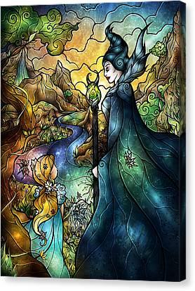 Hello Beastie Canvas Print by Mandie Manzano