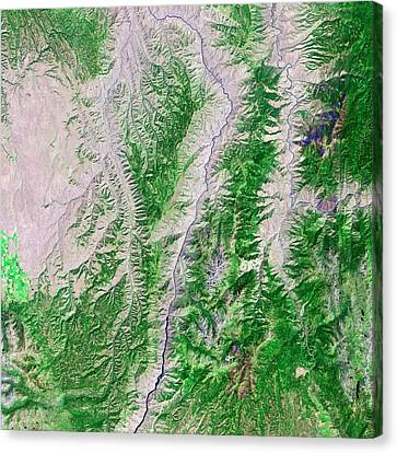 Hells Canyon Canvas Print by Us Geological Survey