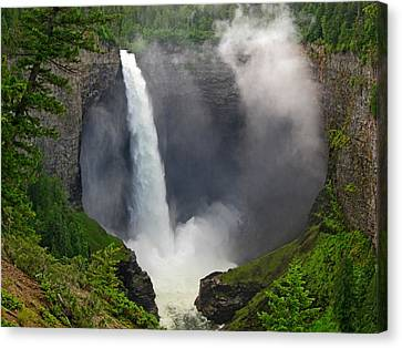Helmcken Falls In Wells Gray Provincial Park Canvas Print by Lena Photo Art