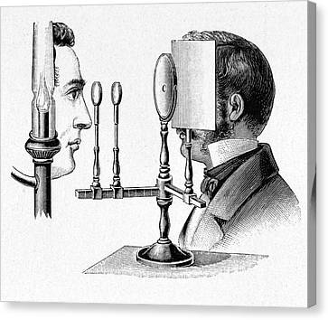 Helmholtz Ophthalmoscope Canvas Print by Cci Archives