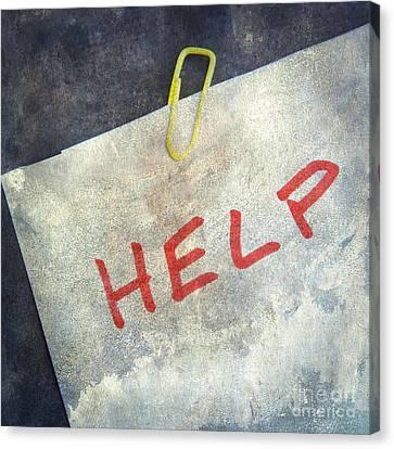 Help Canvas Print by Bernard Jaubert
