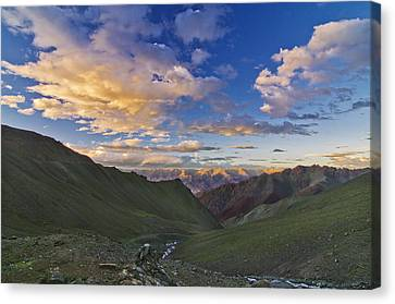 Hemis Sunset Canvas Print by Aaron S Bedell