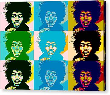 Hendrix Pop Art Collage Canvas Print by Dan Sproul
