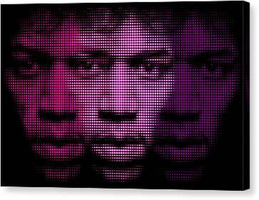 Hendrix - Purple Hazy Canvas Print by Bobby Zeik