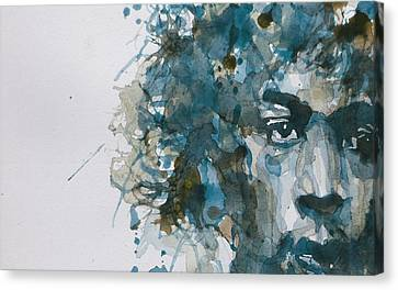 Hendrix Watercolor Abstract Canvas Print by Paul Lovering