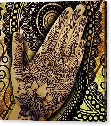Henna Indian Beauty 1 Canvas Print by Tony Rubino