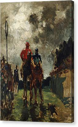 Henri De Toulouse Lautrec Canvas Print by The Jockeys