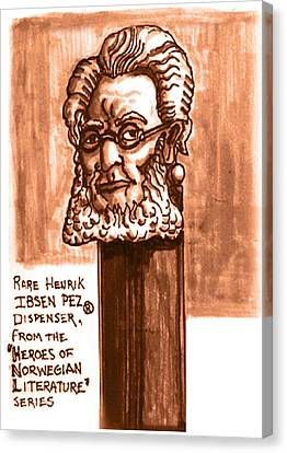 Henrik Ibsen Canvas Print by Del Gaizo
