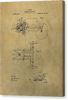 Henry Ford Transmission Patent Canvas Print by Dan Sproul