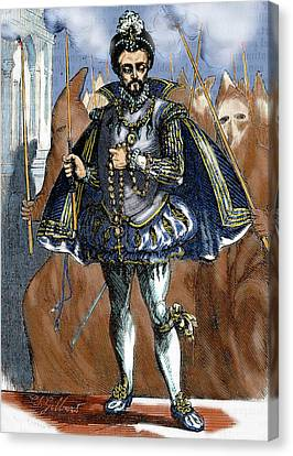 Henry IIi Of France (1551-1589 Canvas Print by Prisma Archivo