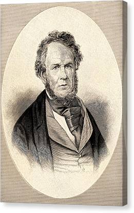 Henry Rowe Schoolcraft Canvas Print by Universal History Archive/uig