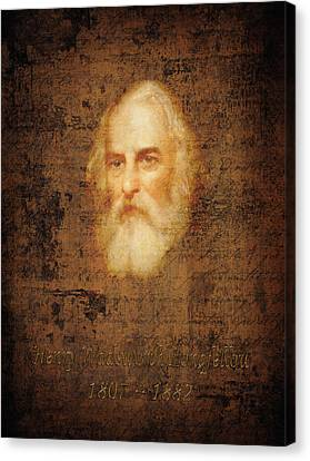 Henry Wadsworth Longfellow Canvas Print by Andrew Fare