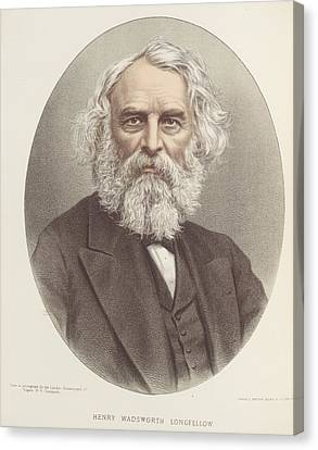 Henry Wadsworth Longfellow Canvas Print by British Library