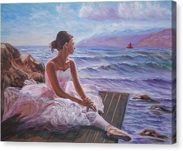 Her Dream Canvas Print by Elena Sokolova