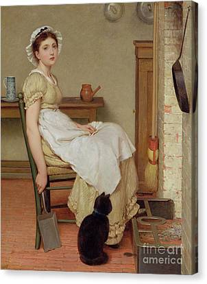 Her First Place Canvas Print by George Dunlop Leslie
