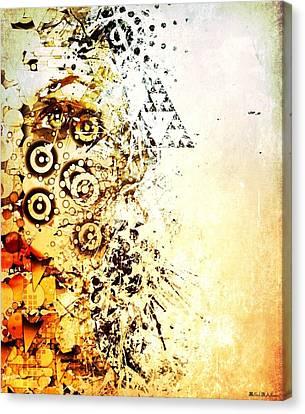 Her Geometric Essence Canvas Print by William  Dampier