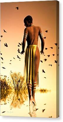 Her Morning Walk Canvas Print by Bob Orsillo