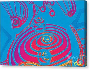 Her Navel Electric Vibrates Pulsates  Canvas Print by Feile Case