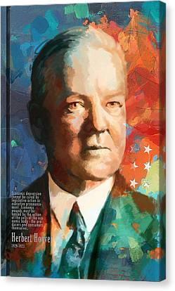 Herbert Hoover Canvas Print by Corporate Art Task Force