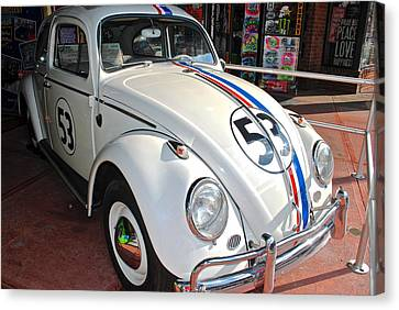 Herbie The Love Bug Canvas Print by Frozen in Time Fine Art Photography