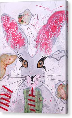 Herby Hare Canvas Print by Karen  Connolly