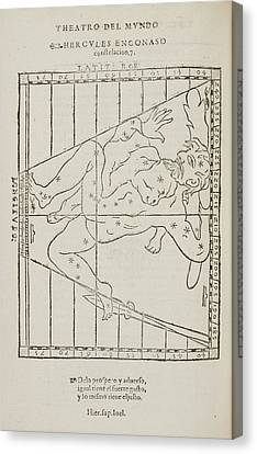 Hercules The Warrior Star Constellation Canvas Print by British Library