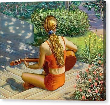 Here Comes The Sun Canvas Print by Dominique Amendola