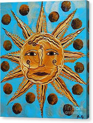 Here Comes The Sun Canvas Print by Jean Fry