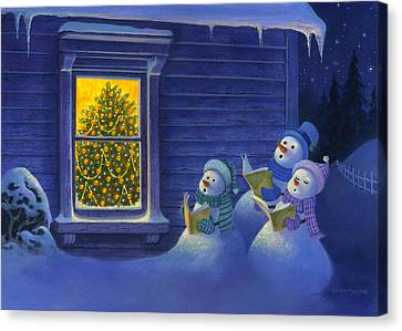 Here We Come A Caroling Canvas Print by Michael Humphries