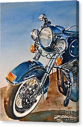 Heritage Softail Canvas Print by Andrea Timm