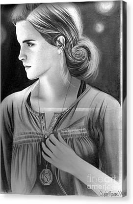 Hermione Granger Canvas Print by Crystal Rosene