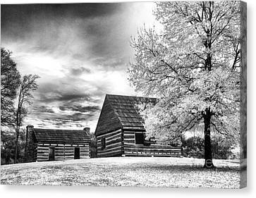 Hermitage Cabins Canvas Print by Jeff Holbrook