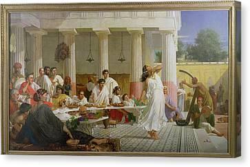 Herods Birthday Feast, 1868 Oil On Canvas Canvas Print by Edward Armitage