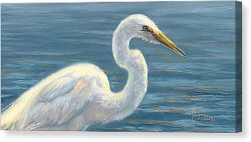 Heron Light Canvas Print by Lucie Bilodeau