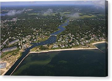 Herring River, Harwich Canvas Print by Dave Cleaveland