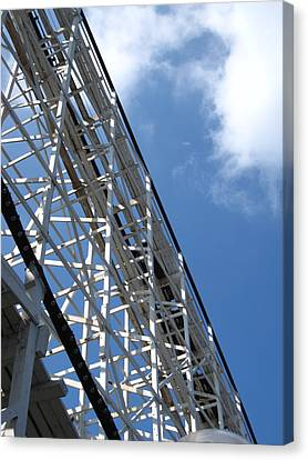 Hershey Park - Comet Roller Coaster - 12122 Canvas Print by DC Photographer