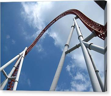 Hershey Park - Storm Runner Roller Coaster - 12123 Canvas Print by DC Photographer