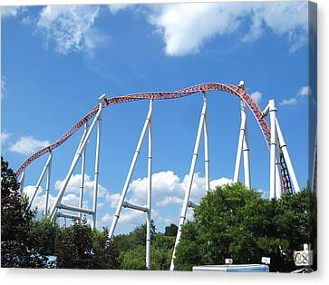 Hershey Park - Storm Runner Roller Coaster - 12126 Canvas Print by DC Photographer