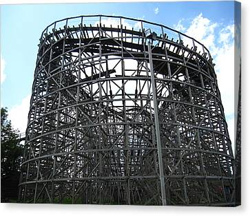 Hershey Park - Wildcat Roller Coaster - 12122 Canvas Print by DC Photographer
