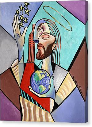 Hes Got The Whole World In His Hand Canvas Print by Anthony Falbo