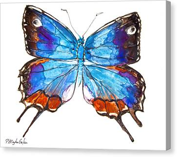 Hewitson's Blue Hairstreak Butterfly Canvas Print by Patricia Allingham Carlson