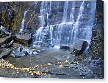 Hickory Nut Falls In Chimney Rock State Park Canvas Print by Pierre Leclerc Photography